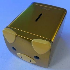 Benefit Cosmetics Gold Piggy Bank Box